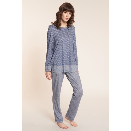 Rösch Tweed Loungewear Set Blauw