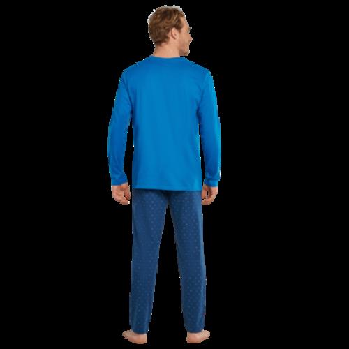 Schiesser Pyjama Long Hexagon 171825