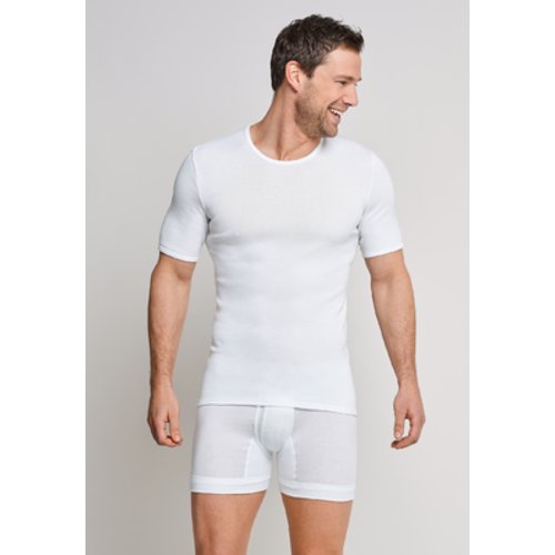 Schiesser Shirt Korte Mouw Fijngeribd 005122