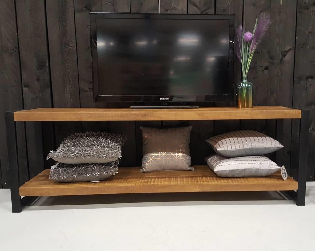 Strak Houten Tv Meubel.Tv Meubel Industrial Mango 180 Cm Gratis Verzending Houten