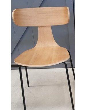 Eettafelstoel met ronde vorm lichtbruin