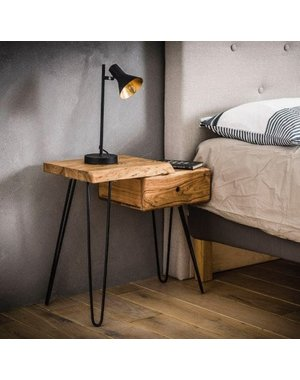 Sidetable / nachtkastje live edge links