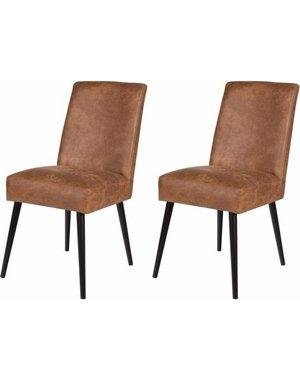 Eettafelstoel Happy Dining Chair Cognac leer
