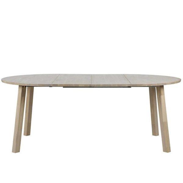 Eettafel 120 rond uitschuifbaar tot ovale tafel