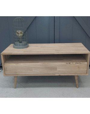 Houten Meubel Outlet TV meubel retro/ modern eiken met grote lade