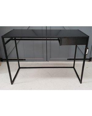 Bureau metaal met zwart mdf blad