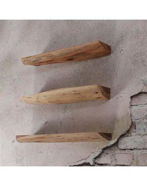 Wandschap edge 60cm set acacia