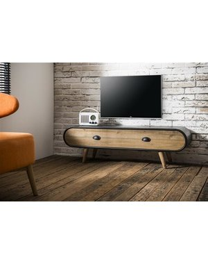 TV-meubel Trunk Zwart
