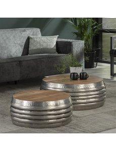 Salontafel set met houten blad