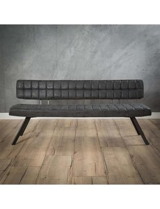 Eetbank 180 cm open rug zwart