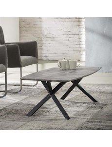 Salontafel 120 ovaal betonlook grijs