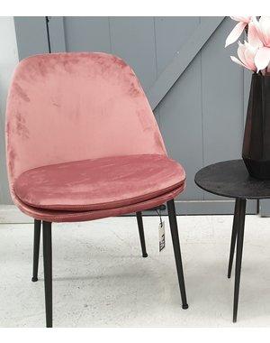 Eettafelstoel Yma roze velvet