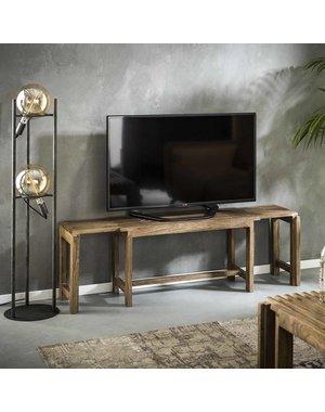 TV-meubel shutters uitschuifbaar mango zandkleur
