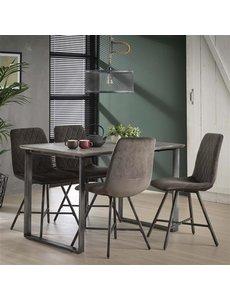 Eettafel 120cm 45° frame / 3D betonlook grijs