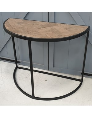 Richmond Interiors Sidetable Herringbone half rond * Showroommodel