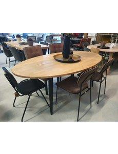 Ovale eettafel massief eiken 200 x 110 cm  - Diverse onderstellen mogelijk