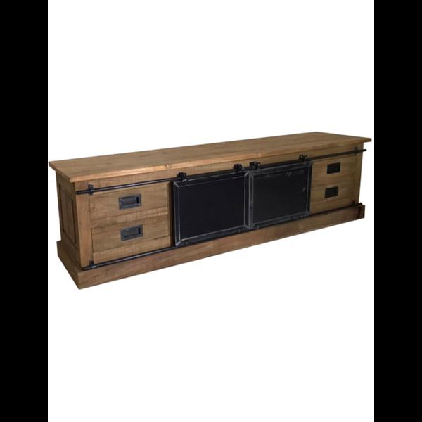 Tv meubel Fugees Old Teak 4 lades, 2 deurtjes - 200 cm