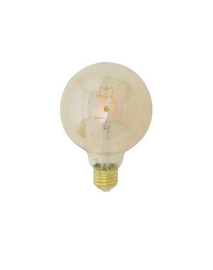 Light & Living LED kogel Ø9,5x14 cm LIGHT 4W amber E27 dimbaar