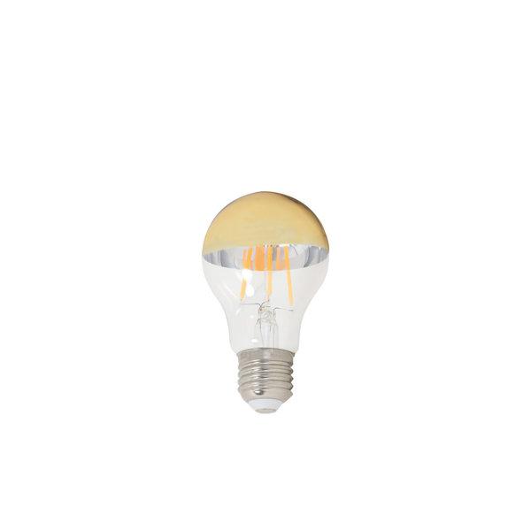 Light & Living Deco LED globe Ø6x11 cm LIGHT 4W helder+goud E27 dimbaar