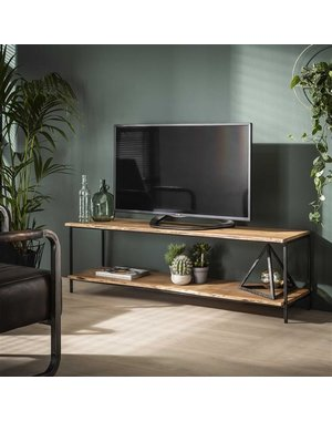 TV-meubel natural edge massief acacia 150 cm