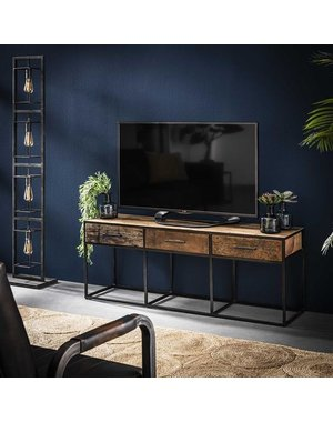 TV meubel Float hardhout 3 lades -135 cm