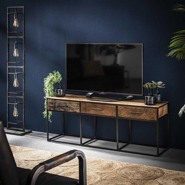 TV meubel Float hardhout 3 lades -135 cm