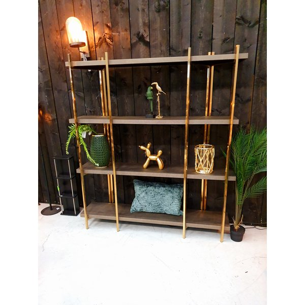 Richmond Interiors Richmond * Wandkast Calesta met 4 planken shagreen look * Sample