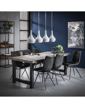 Eetkamertafel 200 acacia rough grey