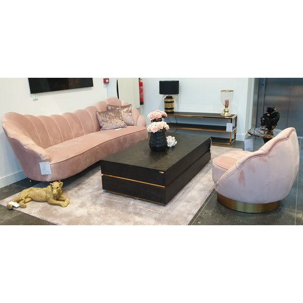 Richmond Interiors Showroommodel salontafel Blackbone goud 150x80 (Block)