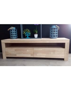 Houten Meubel Outlet Massief eiken TV meubel Mats 150 cm