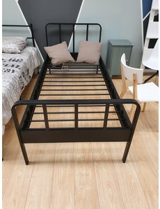 Zwart metalen bed 90 x 200 cm