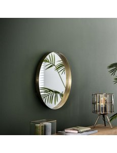 Spiegel Ø50 opstaande rand goudkleurig