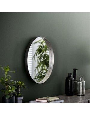 Spiegel Ø50 opstaande rand antiek nikkel