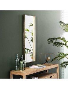 Spiegel 40x100 opstaande rand goudkleurig