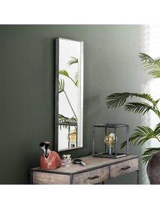 Spiegel 40x100 opstaande rand antiek nikkel