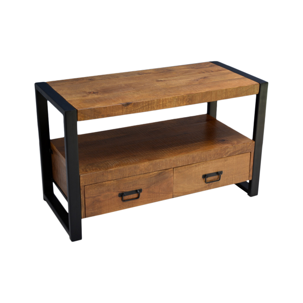 TV meubel Industrial Mango met 2 lades - 120 cm