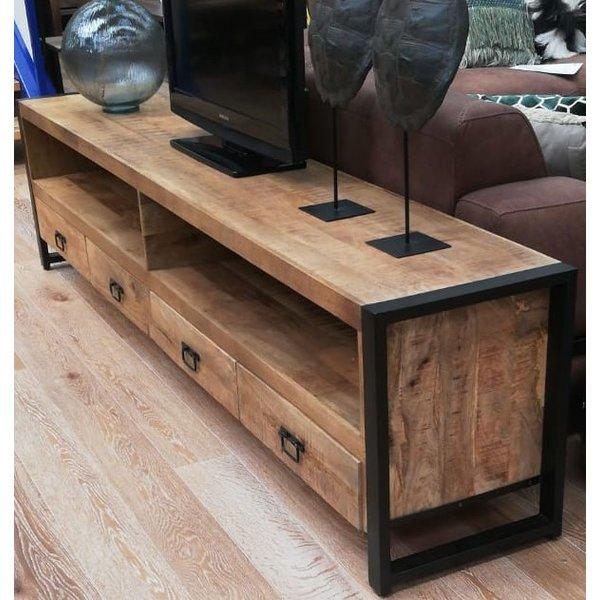 TV meubel Industrial Mango met 4 lades - 250 cm