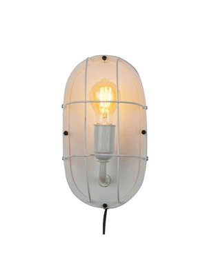 Wandlamp metaal wit