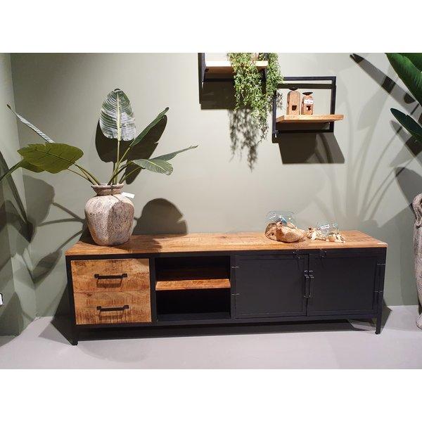 Tv meubel Lizzy mango groot - 2 deurs en 2 lades