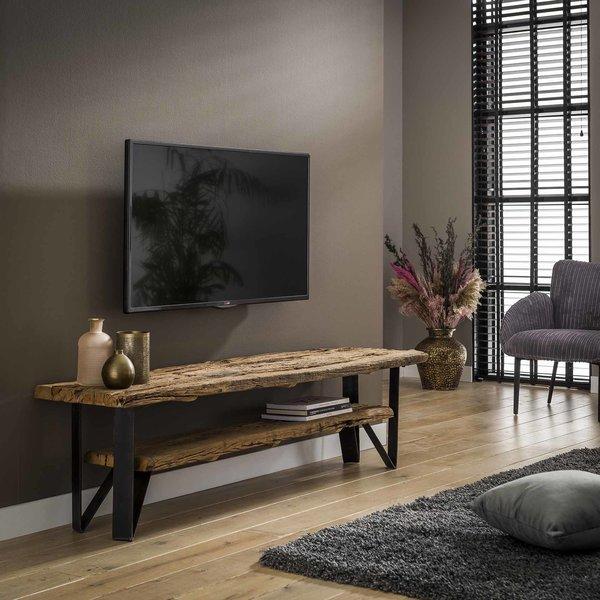 TV-meubel 160x40 1 tussenplank / Robuust hardhout