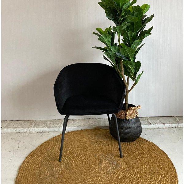 Eettafelstoel Novi velvet zwart