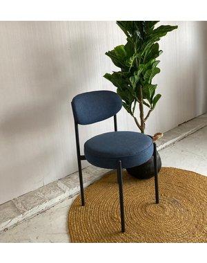 Eettafelstoel blauw retro