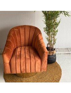 Richmond Interiors Draaifauteuil Swanson Rust Velvet