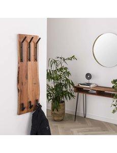 Kapstok edge 2x3 haken hoog / Massief acacia naturel