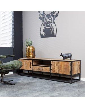 Starfurn Tv dressoir Denver | Mangohout en staal | 180 cm