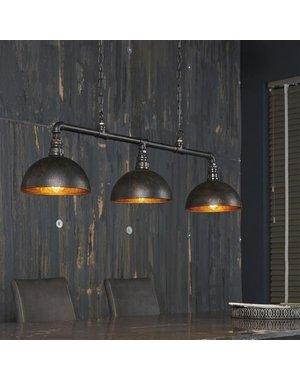 Hanglamp 3L Halfronde Kap-Industrial Tube