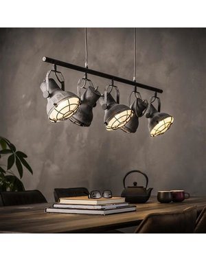 Hanglamp 5xØ16 Industrieel Betonlook