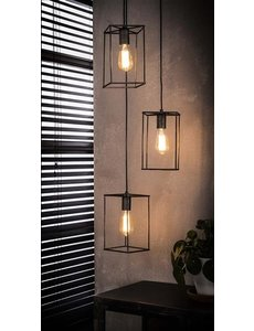 Hanglamp 3x Cubic Getrapt
