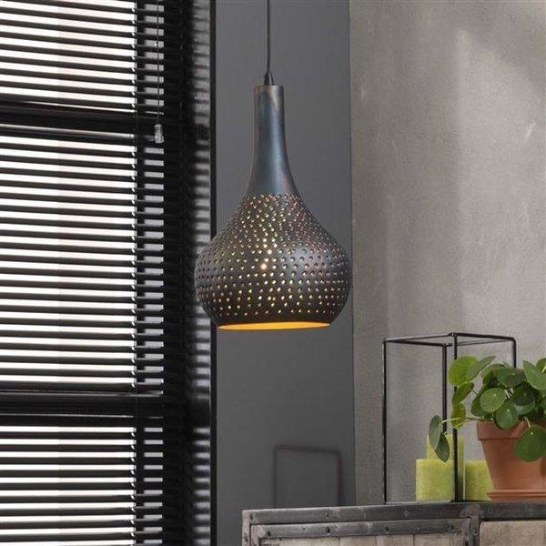 Hanglamp Kegel Beton zwart-bruin