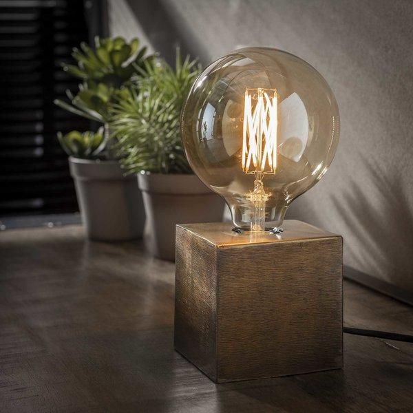 Tafellamp block/Brons antiek